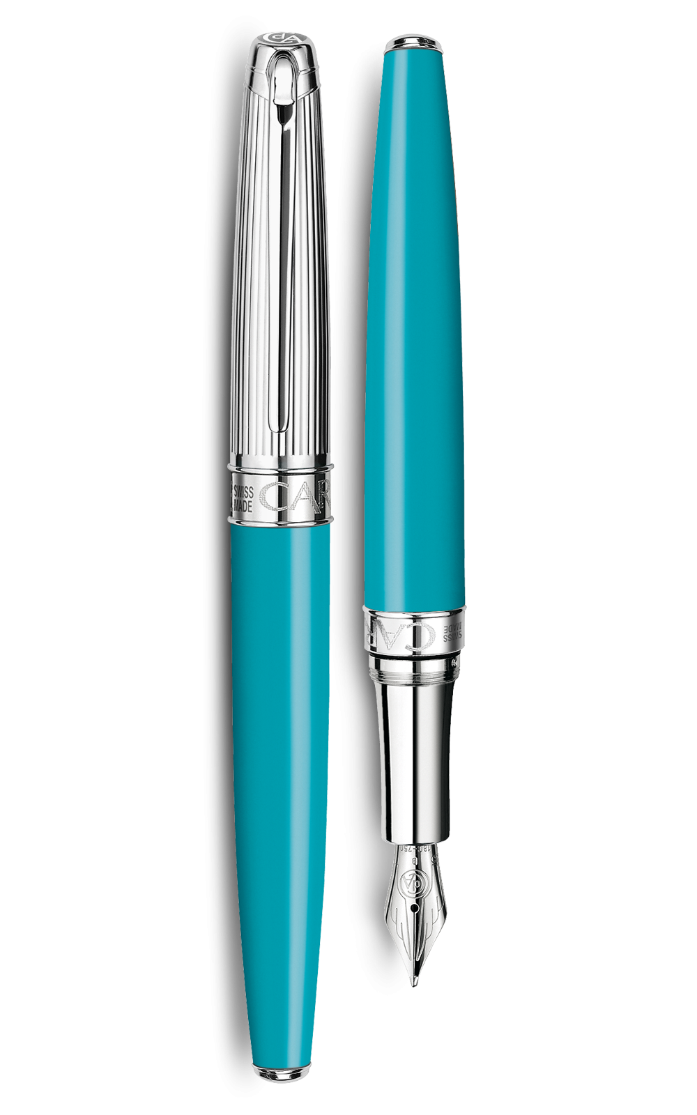 Bút máy LÉMAN BICOLOR TURQUOISE silver-plated, rhodium-coated