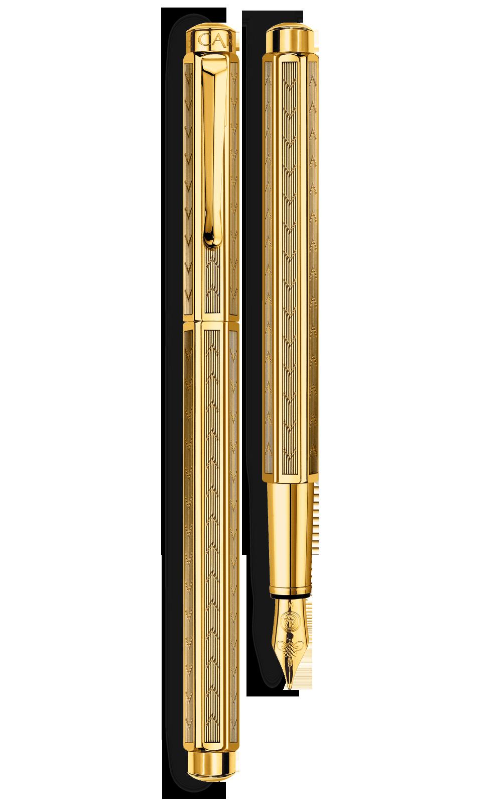 Bút máy ECRIDOR CHEVRON gold-plated