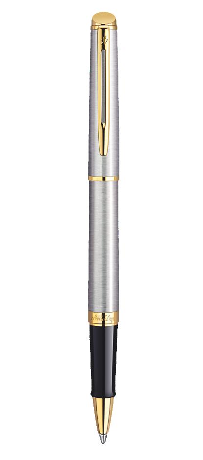 Bút dạ waterman hemisphere 10 vỏ thép cài vàng