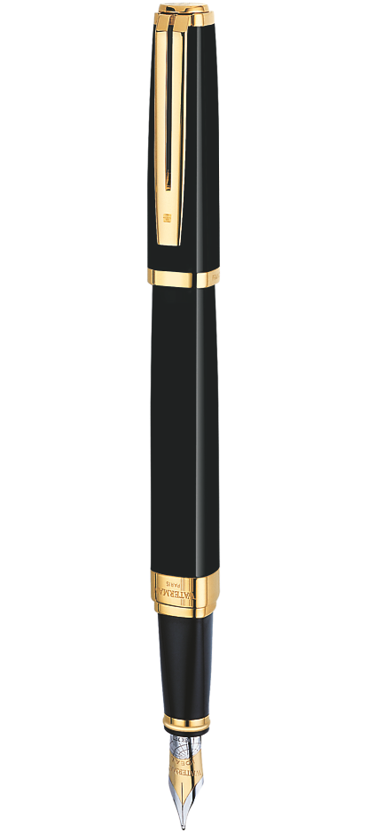 Bút máy waterman Exception Idea Black cài vàng