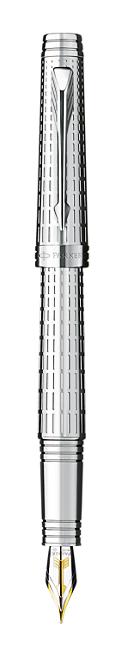 Bút máy Parker Premier 09 Silver cài trắng