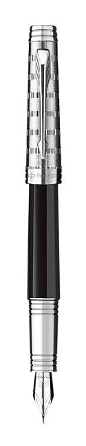 Bút máy parker Premier 09 dulux black cài trắng