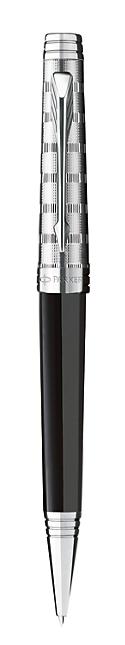 Bút bi parker Premier 09 dulux black cài trắng