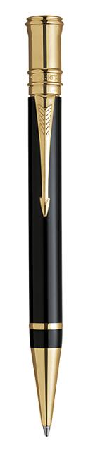 Bút bi Parker Duofold 05 black cài vàng
