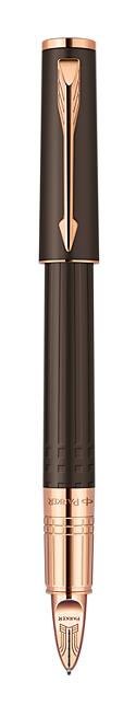 Bút dạ parker ingenuty Small Brown Rubber cài vàng