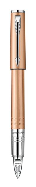 Bút dạ parker Ingenuty loại nhỏ Pink Gold cài trắng