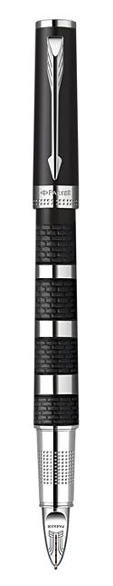 Bút Parker Ingenuity L Black Rubber & Metal cài trắng