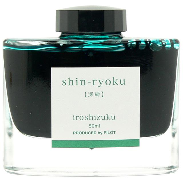 Mực PILOT NAMIKI Iroshizuku Shinryoku ( màu xanh tươi của cây cỏ ) hộp 50ml [INK-50-SHR]