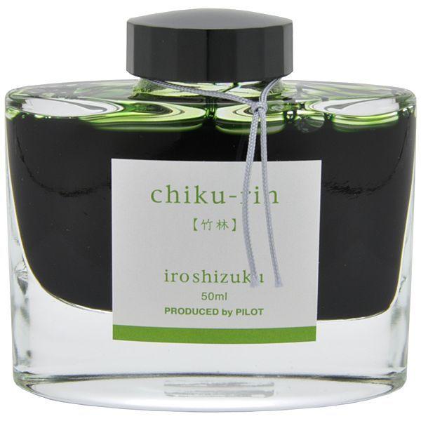 Mực PILOT NAMIKI Iroshizuku Chikurin ( màu xanh rừng tre ) hộp 50ml [INK-50-CHK]