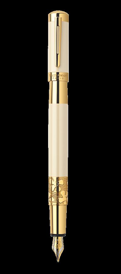 Bút máy Waterman Elegance Ivory cài vàng