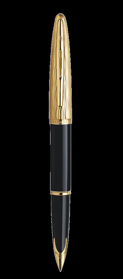 Bút máy Waterman Carene Essential black nắp vàng GT