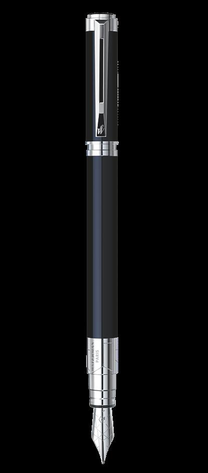 Bút máy waterman Perspective black cài trắng