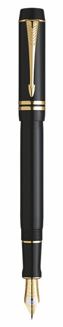 Bút máy parker Doufold 05 black cài vàng