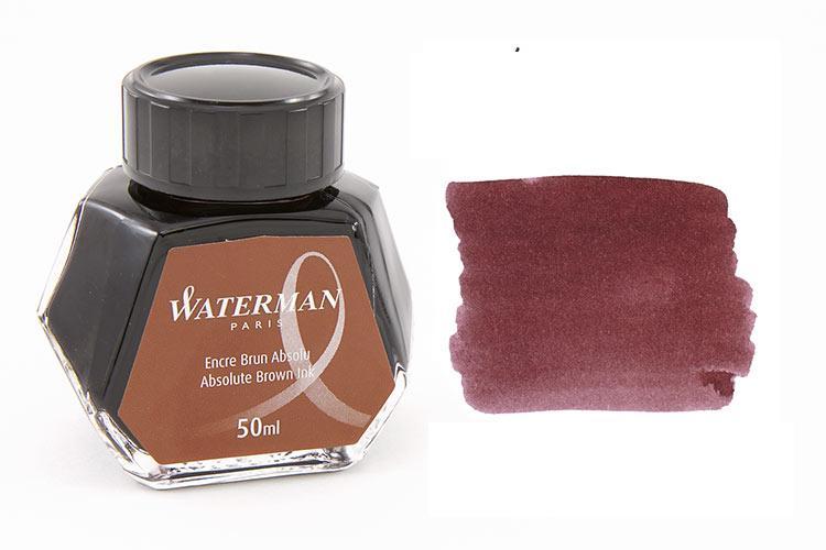 Mực Waterman màu nâu (Lọ 50ml)