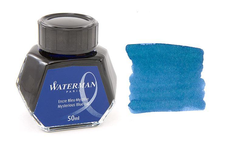 Mực Waterman màu xanh đen (Lọ 50ml)