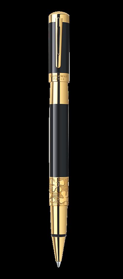 Bút dạ Waterman Elegance black cài vàng